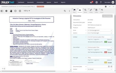 PhlexTMF Automation Screen